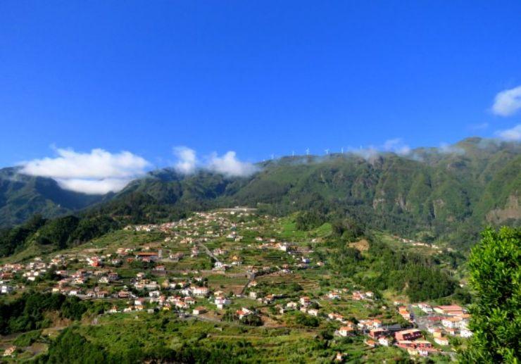 View of lush valley Madeira jeep safari