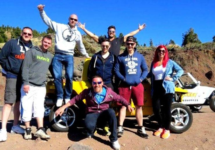 Fun adventure on buggy tour to Teide