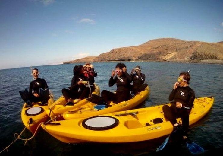 Kayak and snorkel Fuerteventura