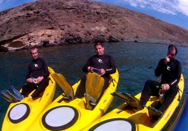 Snorkelling and kayaking Fuerteventura