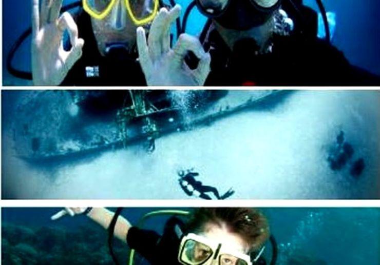 Diving in Gozo island Malta