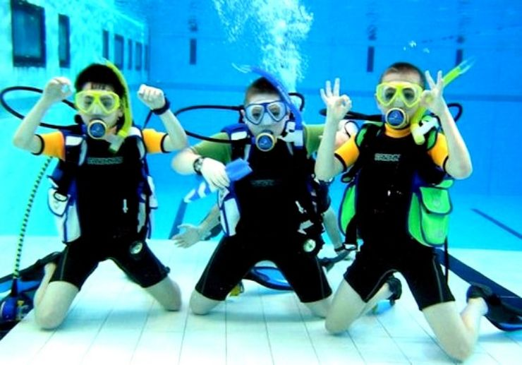 Gozo diving course for children