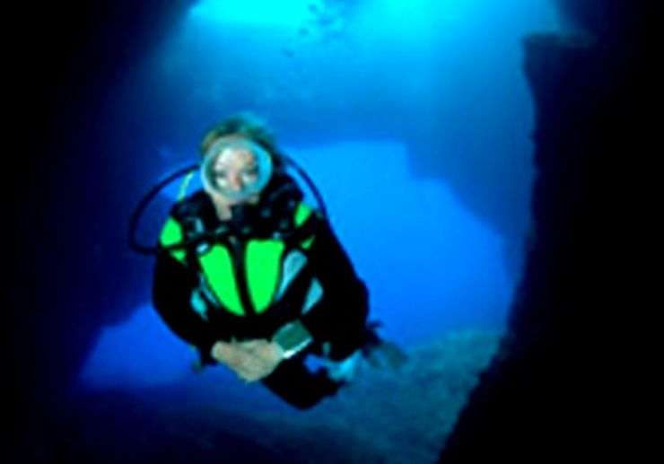 Cave diving Gozo island
