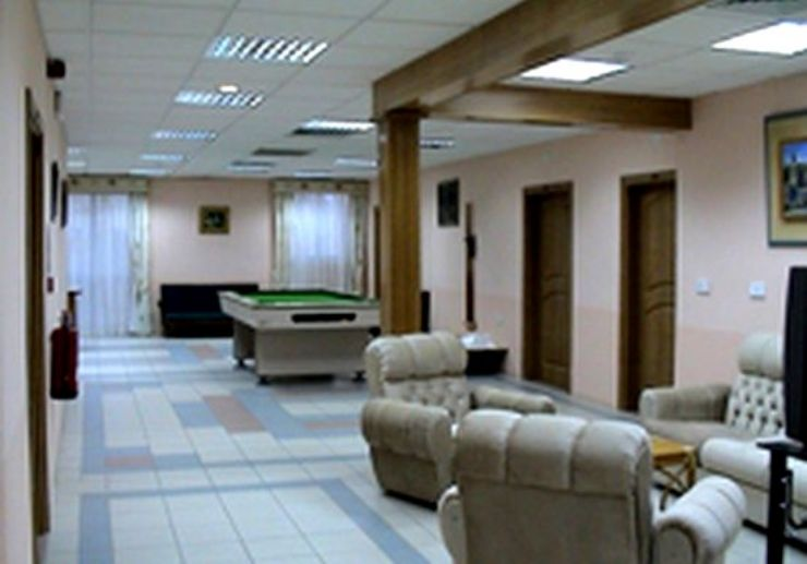 Recreation and waiting room in the diving centre