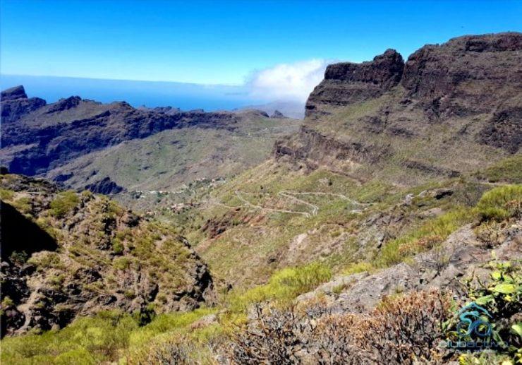Hiking Masca gorge view Tenerife