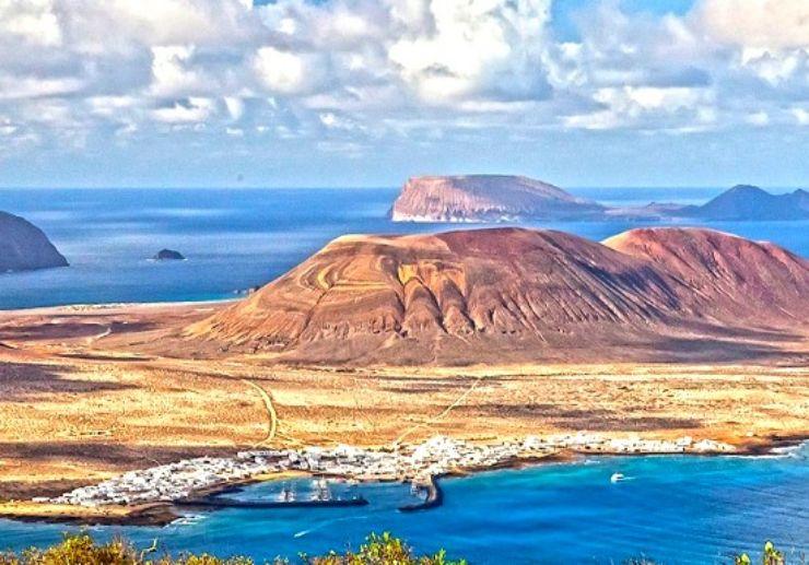 Aerial view of La Graciosa island