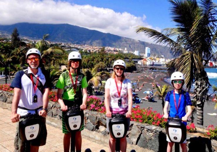 Puerto de la Cruz Segway tour for family