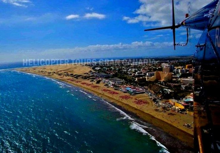 Helicopter tour Gran Canaria south coast