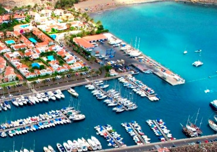 Gran Canaria Marina view of from helicopter