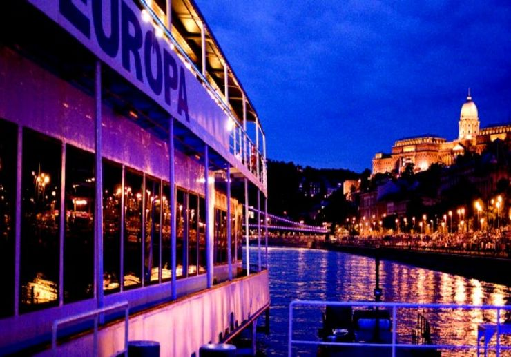 Christmas eve cruise on Danube river
