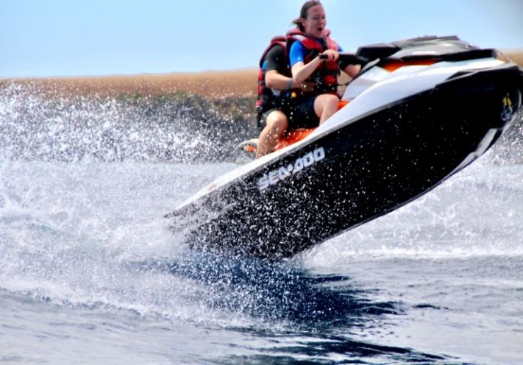 Speed and jump on jet ski Lanzarote