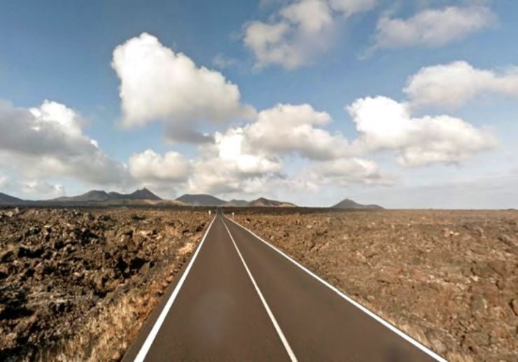 Driving open space volcanic
