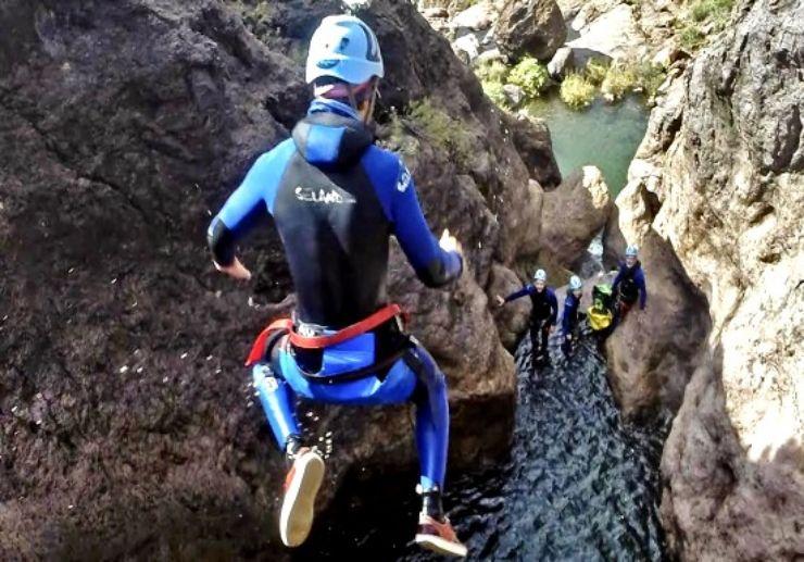 Gran Canaria canyoning and jumping