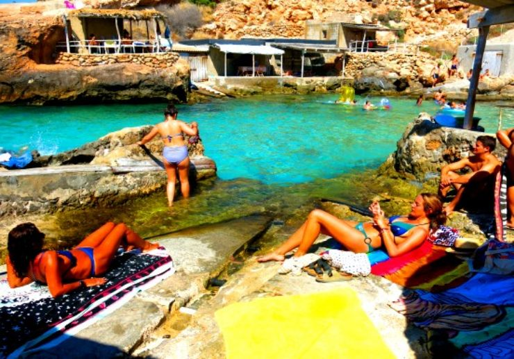 Ibiza cala swimming on jeep tour