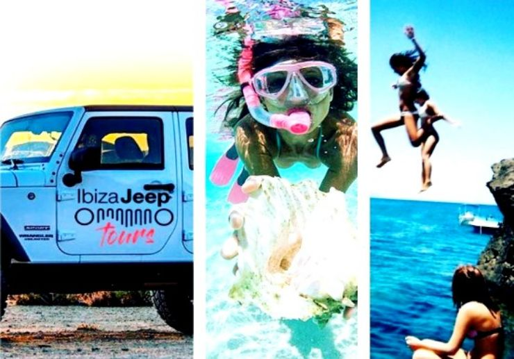 Ibiza jeep tour with snorkelling and cliff jump