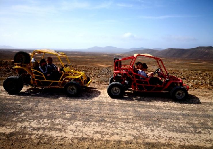 Buggy rugged landscape in Fuerteventura