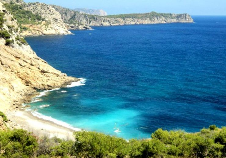 Visit beautiful Coll Baix on boat excursion in Mallorca