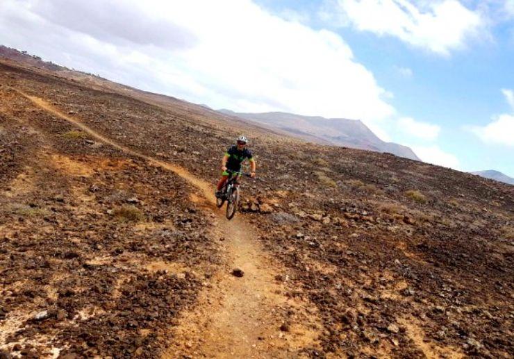 Volcanic landscape MTB Lanzarote