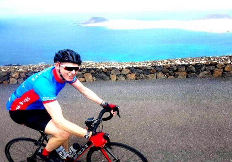 Lanzarote viewpoint road bike
