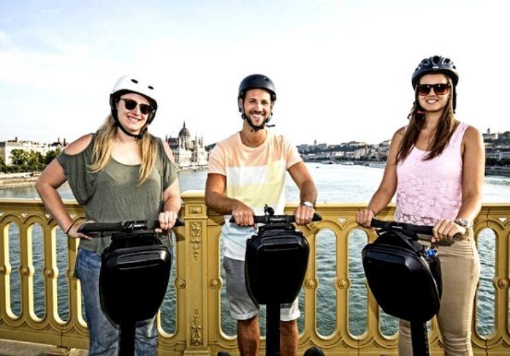 Segway tour Budapest around city park