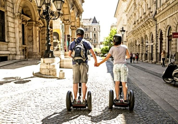 Explore Budapest city park on Segway