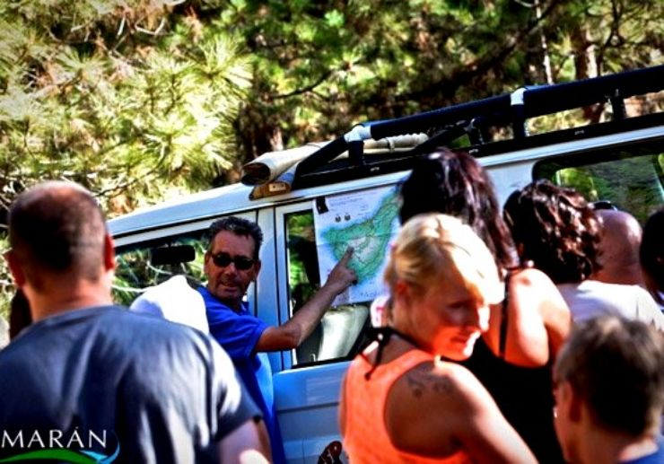 Tenerife Jeep safari guide explaining route