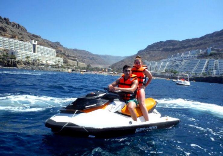 Gran Canaria jet ski in playa ingles mogan and taurito