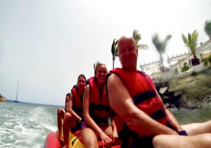 Banana boat family ride