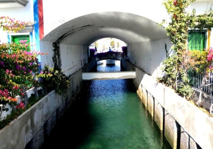 Water canel of Puerto Mogán