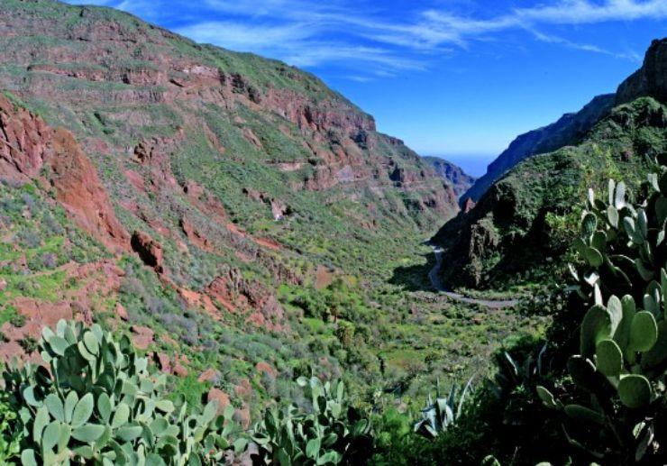 valley of guayadeque in Gran Canaria