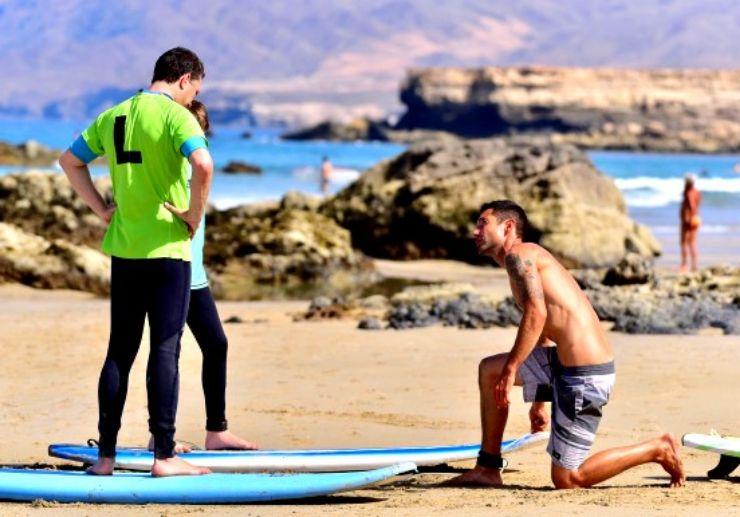 Fuerteventura surf course correct posture