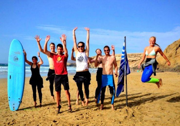 Learn surfing in sunny Fuerteventura