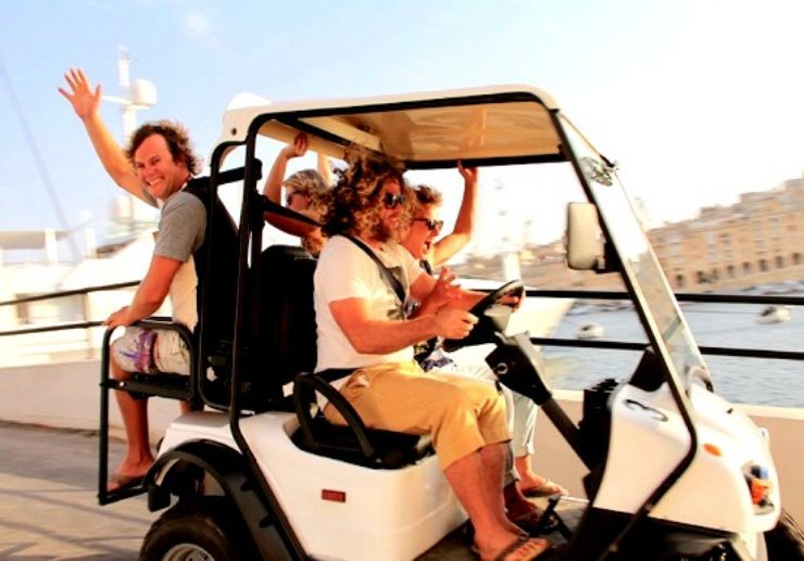 Electric buggy self guided tour Malta