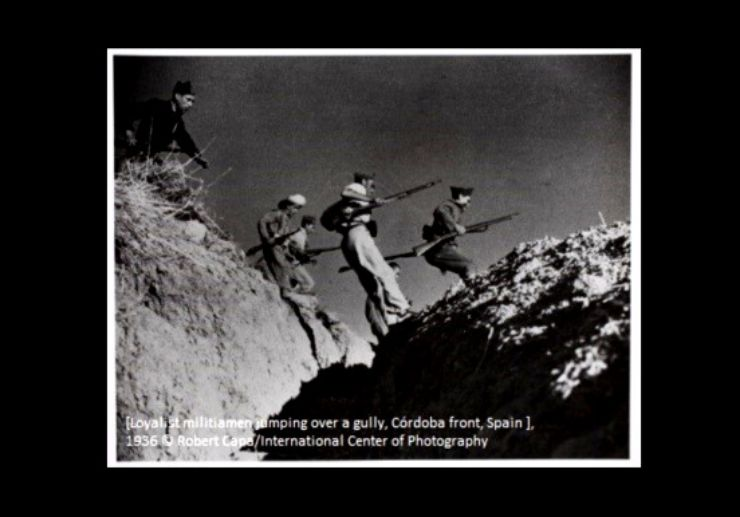 Cordoba front line copy right by Robert Capa