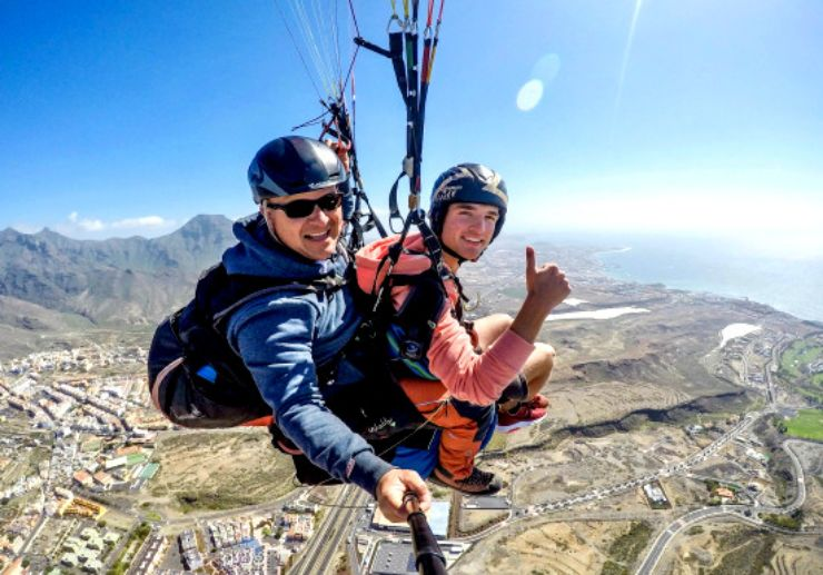Costa Adeje tandem paragliding