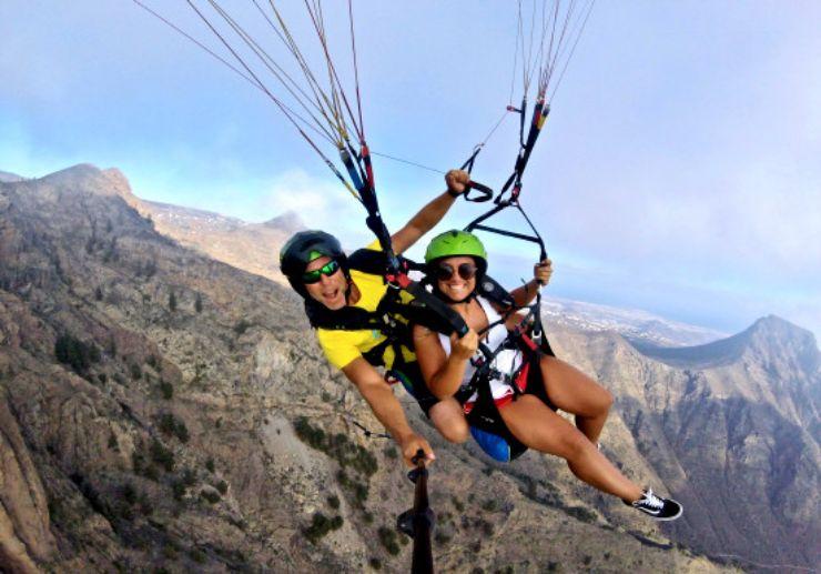 Glide of ravines of Tenerife