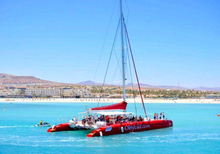 obycat catamaran sailing tour in Fuerteventura