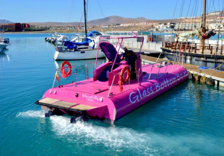 Glass bottom boat excursion Caleta de Fuste