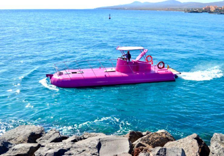 Glass bottom boat Caleta de Fuste