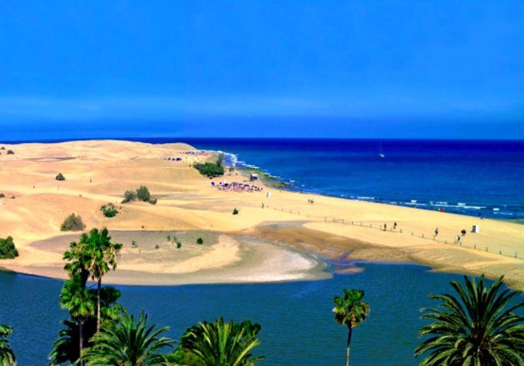 Maspalomas dunes in Gran Canaria