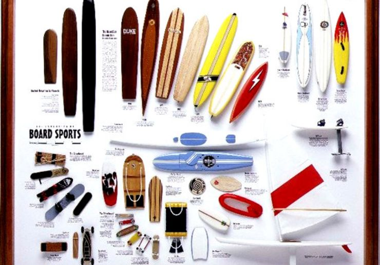 Various types of boards