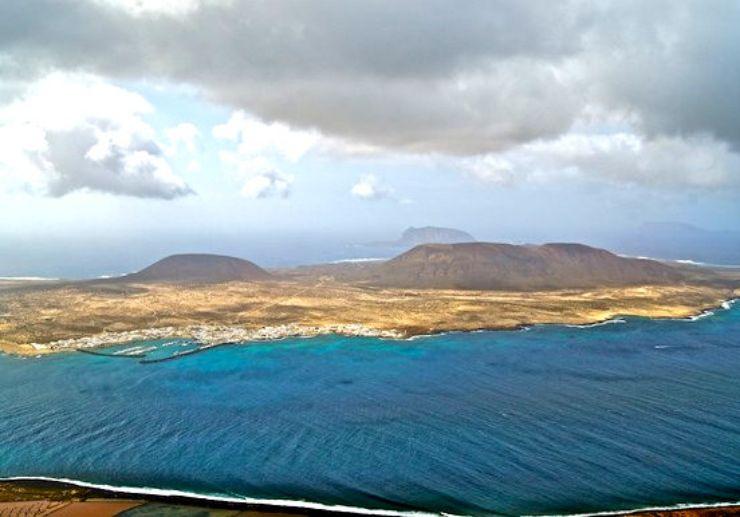Impressive view from Mirador del Rio Lanzarote
