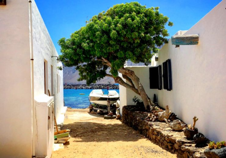 Rustic village feel of La Graciosa island