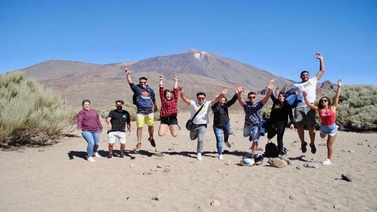 Teide quad excursion group photo