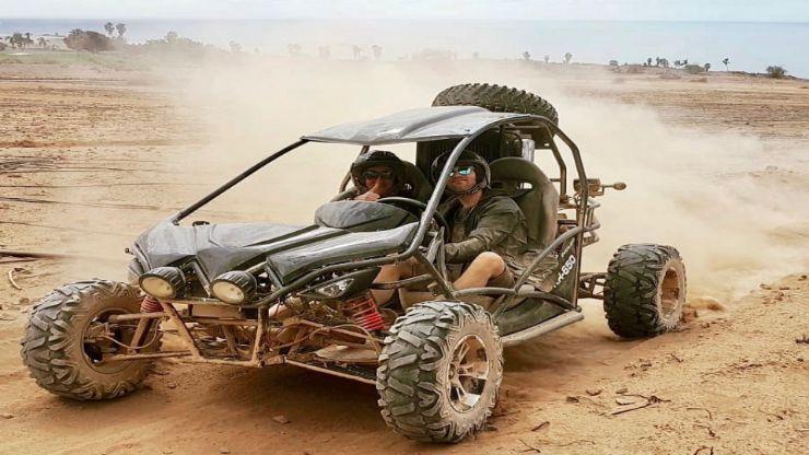 Buggy adventure on dusty tracks