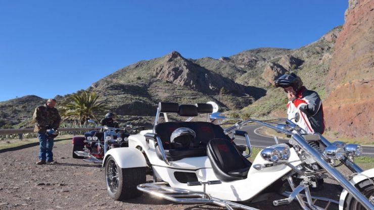Day trip to La Gomera on a trike