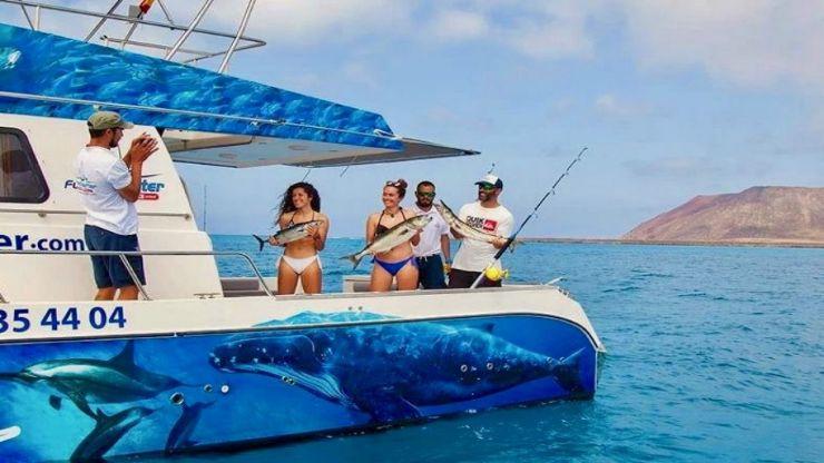 Fun fishing trip in around lobos island Fuerteventura