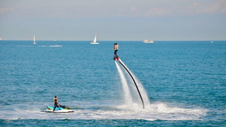 Alcudia bay flyboard