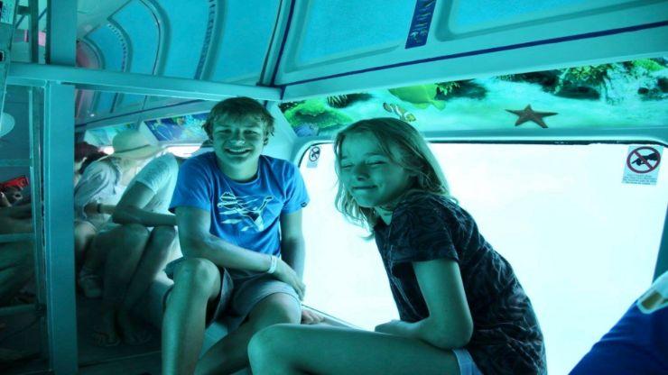 Glass bottom boat with underwater vision Fuerteventura