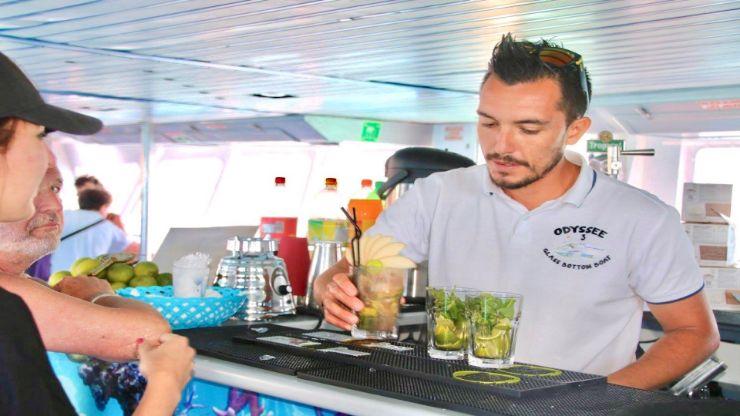 Bar onboard Odyssee boat excursion